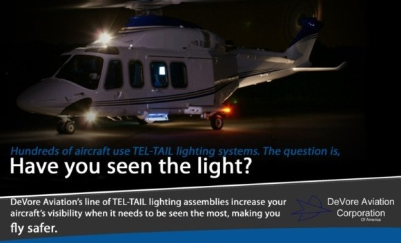 DeVore Aviation Corporation AW13 Tel-Tail Lighting Systems