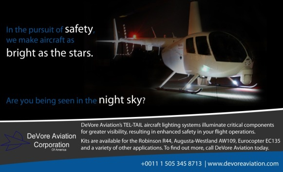 DeVore Aviation Safety R44 bright as stars Lighting Systems